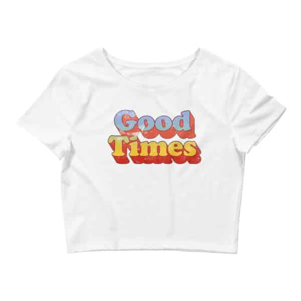 Good Times 70s Style Women's Crop Tee