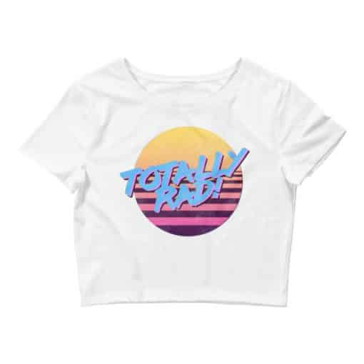 Totally Rad 80s Style Crop Tee