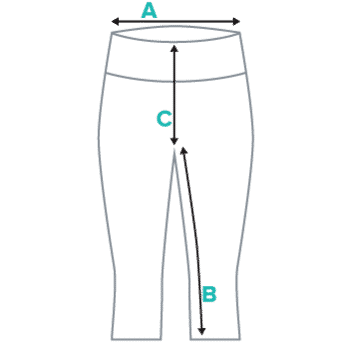 Yoga Capri Leggings Size Chart